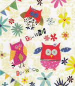 Mini Card Owls And Bunting