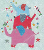 Mini Card Three Elephants