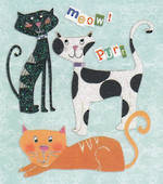 Mini Card Three Cats
