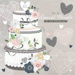 Wedding Card Bella Special Couple Cake