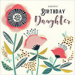 Daughter Birthday Card Breton Square Flowers