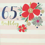Birthday Age Card 65 Female Breton