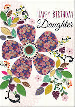 Daughter Birthday Card Entwine Flower