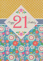 Birthday Age Card 21 Female Entwine