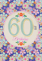 Birthday Age Card 60 Female Entwine
