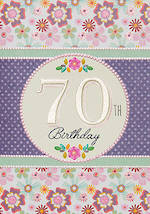 Birthday Age Card 70 Female Entwine