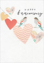 Anniversary Card Halcyon Birds & Heart