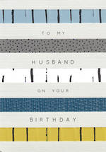 Husband Birthday Card Halcyon Stripes