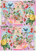 Sheet Wrap Utak Vintage Birds & Flowers