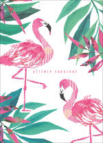 Tropical Glitch Flamingoes