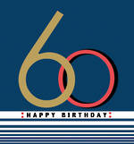 Birthday Age Card 60 Male Rocky Small Square