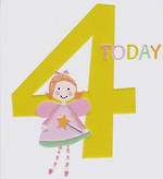 Birthday Age Card 4 Girl Count to Ten