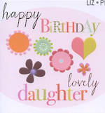 Daughter Birthday Card: Liz & Pip Lovely