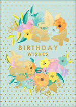 Louise Tiler Floral: Birthday Gold Dots