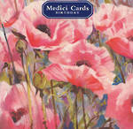 Medici Small Square Pink Poppies