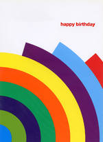 Blank Card: Technique - Rainbow Birthday