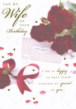 Wife Birthday Card Special As You