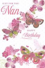 Grandmother Birthday Card: For You Nan Butterflies