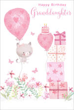 Grandaughter Birthday Card Pink Gifts