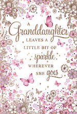 Grandaughter Birthday Card Pizazz Sentiment Large