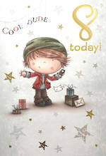 Age Card 8 Boy Birthday Cartoon