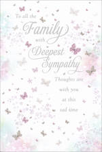 Sympathy Card To Family Butterflies