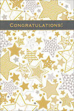 Congratulations Card Pizazz Large Stars
