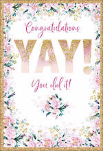 Congratulations Card Pizazz Large Yay