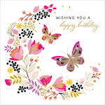 Carnival Birthday Butterflies Pink