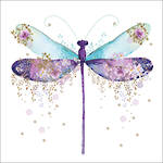 Pizazz Square Dragonfly