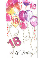 Age Card 18 Female Birthday Pizazz Tall