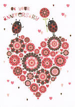 Anniversary Card Your Lady Bird