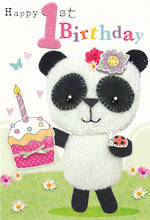 Age Card 1 Girl Marshmallow Panda