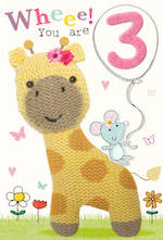 Age Card 3 Girl Marshmallow Girafe