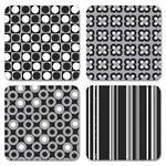 Papercoasters Silver Black