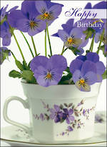 Birthday Wishes Pansies