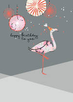 Alma Rose Birthday Flamingo