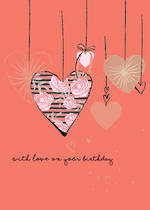 Alma Rose Birthday Hanging Hearts