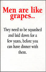 Blank Card: Different Circumstances - Men Are Like Grapes