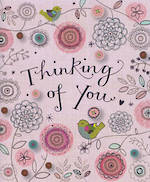 Thinking of You Card: Bee Brown