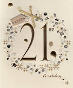 Age Card 21 Female Paper Gallery Birthday