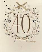 Age Card 40 Female Paper Gallery Birthday
