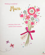 Mum Birthday Card Dainty Delights Bouquet