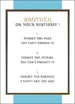Brother Birthday Card Fine Line Forget