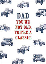 Dad Birthday Card Fit For A King Classic