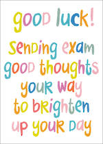 Good Luck Card Word For Word Exams