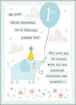First Birthday Age Card 1 Boy Paper Gallery