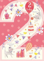 Birthday Age Card 2 Girl Paper Gallery