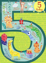 Birthday Age Card 5 Boy Paper Gallery