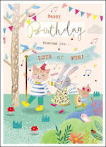 Zinnia Infant Birthday Lots of Fun